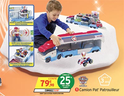 camion pat patrouille de paw patrol moins cher pour no l 2016. Black Bedroom Furniture Sets. Home Design Ideas