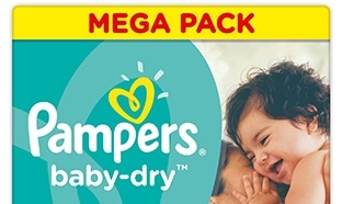 Pampers : 2 packs de couches pour 5.46€ (au lieu de 54.60€)