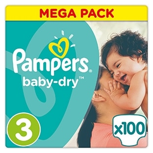 Pampers : 4 packs de couches pour 19.56€ (au lieu de 98.60€)