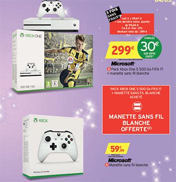 Promo Intermarché : Console Xbox One S 500Go + Jeu Fifa 17 + 2 manettes