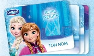 Cadeau Danone : Set de table La Reine des Neiges à 1€