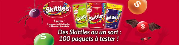 Testez les bonbons Skittles Fruits : 200 paquets gratuits