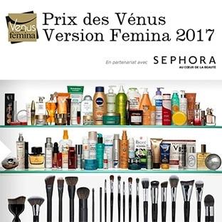 Prix des Vénus Version Femina 2017 : 201 lots beauté à gagner