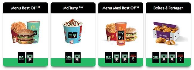 Les vignettes offertes du jeu Monopoly 2017 by McDonald's