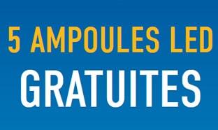 MesAmpoulesGratuites.fr : 10 ampoules LED gratuites