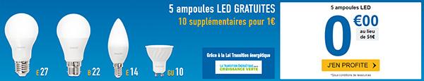 Avis Mes ampoules LED gratuites