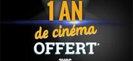 Le Gaulois : Jusqu'à 1 an de cinéma offert pour votre invité