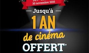 Le Gaulois : Jusqu'à 1 an de cinéma offert