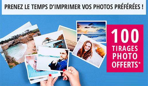 100 photos classiques gratuites avec Photobox