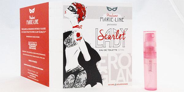 Parfum intime gratuit : Échantillon de Lady Scarlet offert