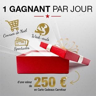 Jeu Carrefour : Jusqu'à 66 cartes cadeaux de 250€ à gagner