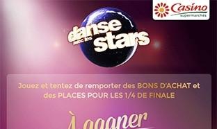 Jeu Casino - Dance avec les Stars : 1000 bons d'achat à gagner...