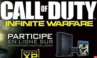 Jeu Monster Energy : 5 consoles PS4 et 15 jeux Call of Duty à gagner