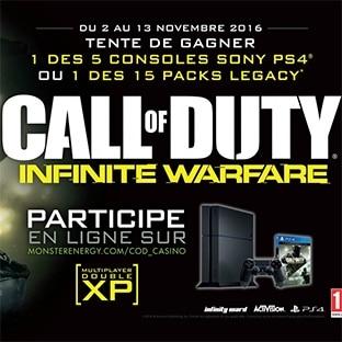 Jeu Monster Energy : 5 consoles PS4 et 15 jeux Call of Duty
