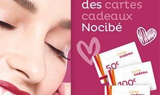 Jeu Nocibé Fête des Mères : 31 cartes cadeaux de 50€ à 150€