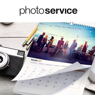Photoservice : Calendrier personnalisé gratuit (hors fdp)