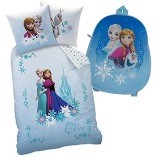promo sac dos housse de couette reine des neiges 17 45. Black Bedroom Furniture Sets. Home Design Ideas