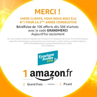 Bon plan Amazon : 10€ de réduction dès 50€ d'achats