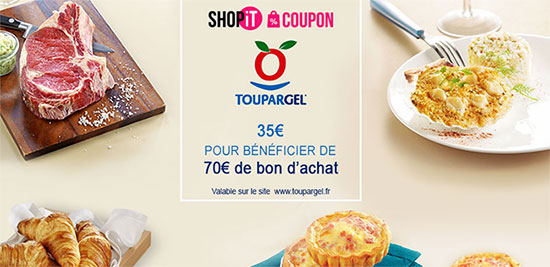 Bon d'achat Toupargel de 70€ à 35€ avec Showroomprive