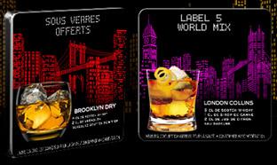 Jeu Label 5 : 900 lots de 4 sous-verres personnalisés à gagner