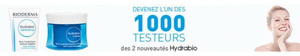 Tentez de devenir testeur Bioderma : 1000 produits Hydrabio à tester