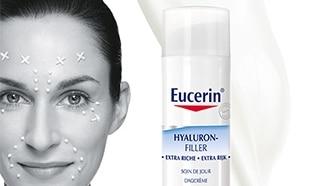 Test du soin Eucerin Hyaluron-Filler Extra Riche : 100 gratuits