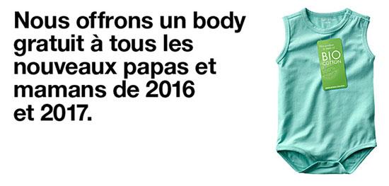 Zeeman : Body bio coton gratuit