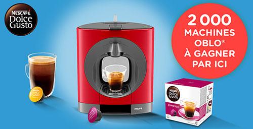 Remportez une machine à café Oblo avec Nescafé Dolce Gusto