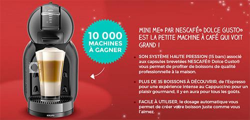 remportez l'une des 10'000 machines Dolce Gusto offertes