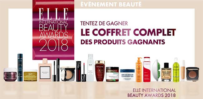 ELLE International Beauty Awards 2018 : Gagnez les produits de beauté élus