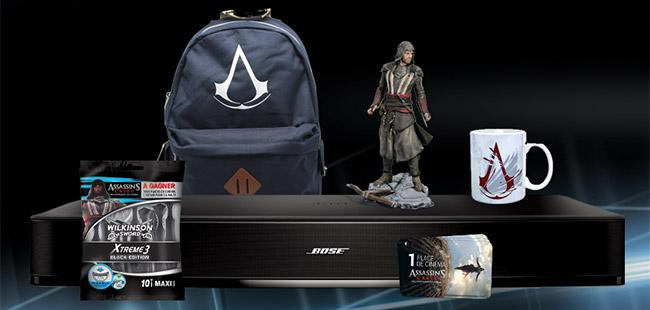 remporter des cadeaux avec Wilkinson et le film Assassin's Creed