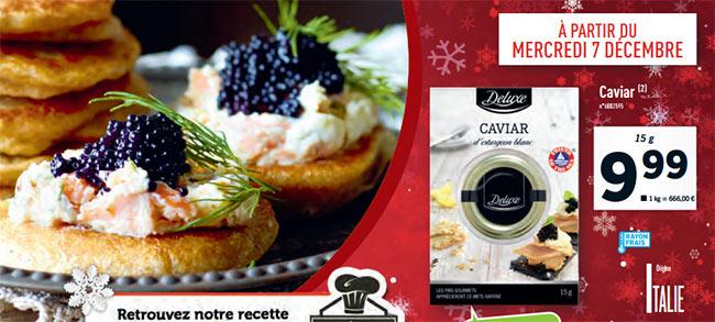 Magasins Lidl : La boîte de caviar Deluxe chez Lidl à 9,99€