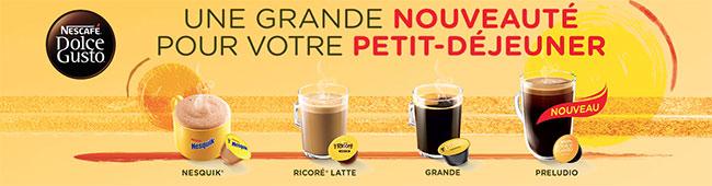 Capsules Nescafé Dolce Gusto : coffrets d'échantillons offerts