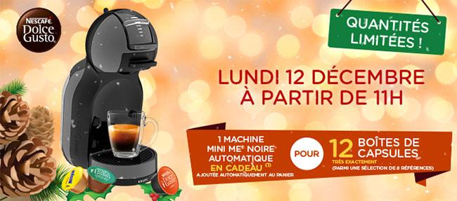 Machines à café Dolce Gusto Mini Me offertes