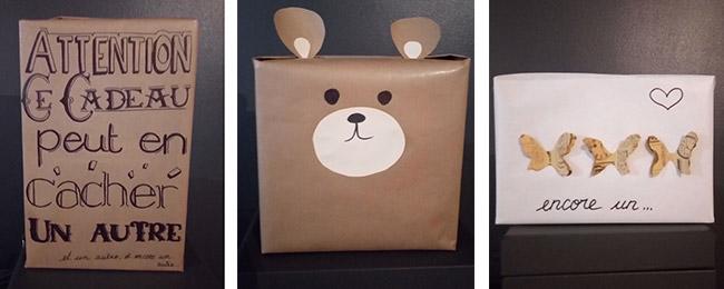 L'emballage qui suggère le cadeau