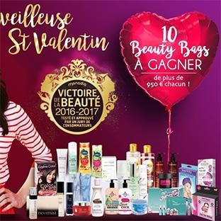 10 Beauty Bags (avec + de 950€ de produits de beauté) à gagner