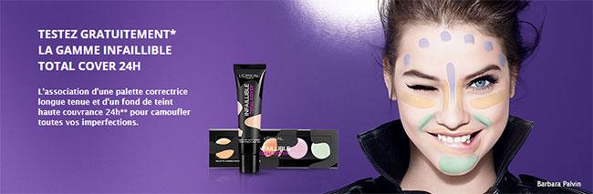 Testez la gamme Infaillible Total Cover de L'Oréal Paris