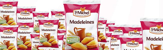 Paquets de paquets de madeleines St Michel