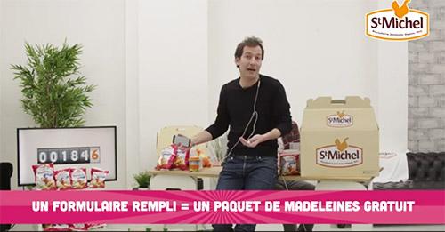 Offre de rapidité St Michel : 9000 paquets de madeleines gratuits
