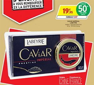 Promotion sur le caviar LABEYRIE chez Intermarché