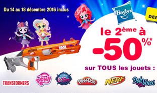 Toys R Us : 50% de réduction sur le 2ème jouet Hasbro