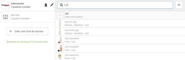 Créez votre liste de courses avec Quoty