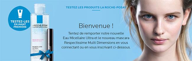 testez les nouveaux mascaras et eaux micellaires de La Roche-Posay