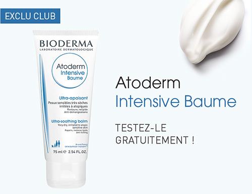 Testez gratuitement l'Atoderm Intensive Baume de Bioderma