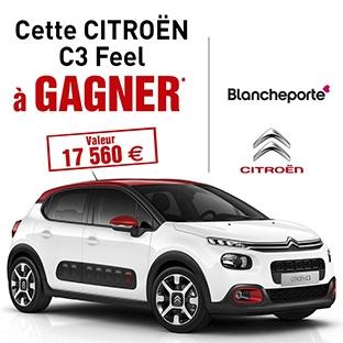 Jeu Blancheporte : 1 voiture Citroën C3 Feel Pure Tech à gagner