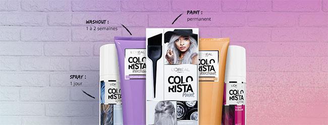 Tentez de colorer gratuitement vos cheveux avec Colorista de L'Oréal