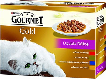 Bon plan Amazon : 8 packs de 12 sachets Gourmet Gold Double Délice
