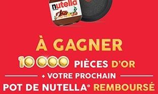 Tentez de gagner l'une des 10'000 pièces d'or Nutella et Tefal
