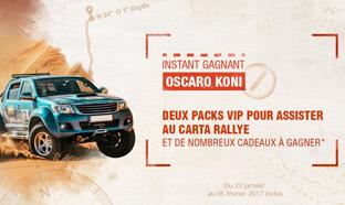 Jeu Oscaro Carta Rallye : 1307 cadeaux à gagner