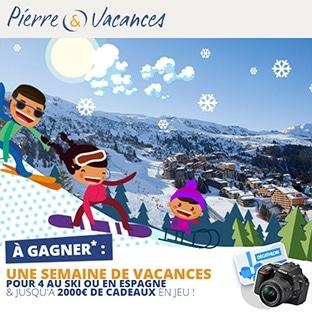 Jeu Pierre & Vacances : 2 séjours et 2000€ de cadeaux à gagner
